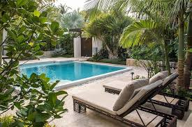 patio with square pool. Small, Square Pool Is Perfect For Those Working With Limited Space [Design: Craig Reynolds Landscape Architecture] Patio L