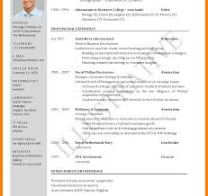 Std Resume Format Standard Resume Sample Cv Doc Samples For Freshers Pdf Canadian 16