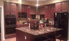 Kitchen Backsplash Wallpaper White Kitchen Cabinets With Cherry Wood Floor Hd Wallpaper