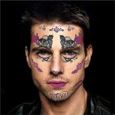 хэллоуин временный фейс арт водонепроницаемый маска сахарный череп татуировки
