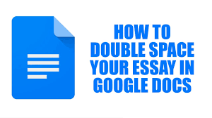 how to double space your essay in google docs  how to double space your essay in google docs