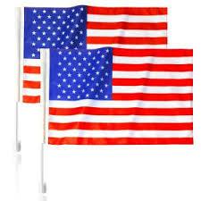 ANLEY <b>American Car</b> Window <b>Flags</b> 19 in. x 11 in. Clip onto <b>Car</b> ...