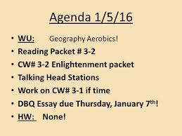 agenda wu what was the columbian exchange reading packet  3 agenda