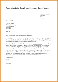 Example Of Resignation Letter In Teaching New Letter Resignation
