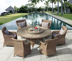 outdoor rattan dining chair table
