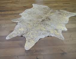 exotic light natural gold cowhide
