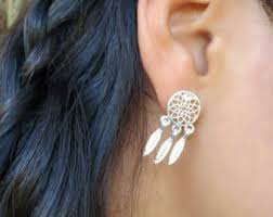 Dream Catcher Earing Dreamcatcher earring Etsy 2