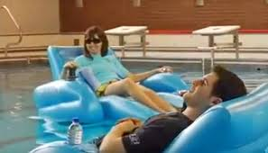 palm beach motorized pool lounger inflatable pool chair with a motor and joystick