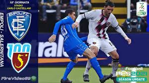 Pes 2021 Serie B • Empoli Vs Salernitana • (18° Giornata) - YouTube