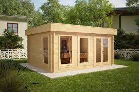 Modernes Holzhaus Mit Flachdach Ian D 18m² 58mm 4x5m Hansagarten24