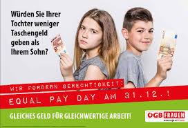 gender pay gap 11th of equal pay day in would you give your daughter less pocket money than your son