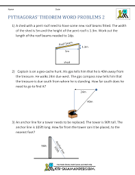 pythagoras theorem questions word problems geometry  pythagoras theorem questions word problems 2