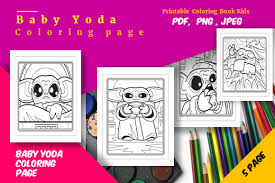 Selection of hand picked free and premium fonts for various design purposes. 1 Free Printable Baby Yoda Coloring Pages Designs Graphics