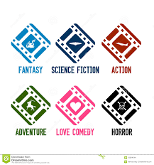 Film Genres Movie Genres Icons Vector Stock Vector Illustration Of