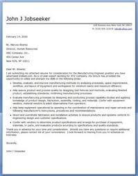 cover letter for manufacturing engineer industrial engineer cover letter