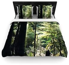 robin inson enchanted forest green cotton duvet cover queen 88 x88