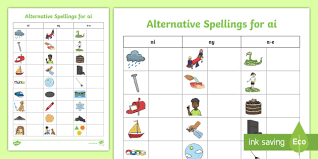 This helpful phonics worksheets bundle includes. Primary Phonics Alternative Spellings For Ai Parents Resource