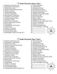 ncsc topics for persuasive essays argumentative essay  persuasive essay topics generator