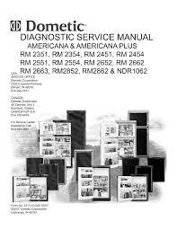 Dometic Rm2652 Check Light Dometic Dm2662 Service Manual Manualzz Com