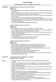 Accountant Resumes Samples Sample Accounting Resume Manufacturing Cost Accountant Resume