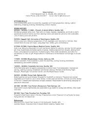 Food Science Resume Skills Food Service Resume Entry Level