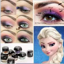 diy frozen eye makeup diy frozen eye shadow how to diy makeup eye makeup eye liner makeup tutorials elsa eye makeup tutorials