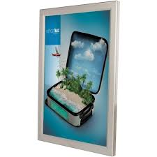 silver led snap frame with or without graphics a3 size