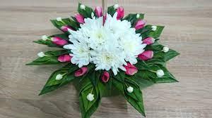 ทำกระทงใบตองแบบง่ายๆ แบบที่ 11 ใช้ดอกพุดเล็กและดอกเบญจมาศ | กับ7Orn -  YouTube | Diy และงานฝีมือ, ดอกไม้กระดาษ, งานฝีมือ