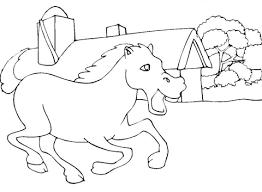 Paard Vlakbij De Stal Kleurplaat Gratis Kleurplaten Printen
