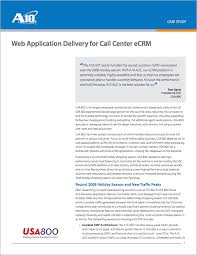 Web Application Delivery For Call Center Ecrm