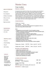 Case Worker Resume Template Child Cv Social Example Skills
