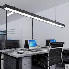 office chandelier lighting. LED Office Chandelier Modern Simple Long Strip Aluminum Lamp Hanging Line Commercial Engineering Led Lamp-in Pendant Lights From Lighting D