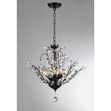 dining room impressive hampton bay lake point 4 light chrome and clear crystal chandelier in
