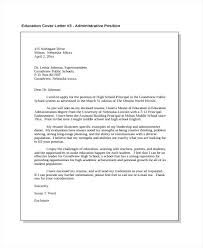 Best Solutions Of Cover Letter Examples Education Administration