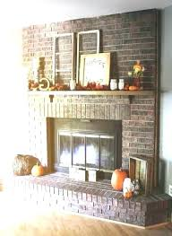 brick fireplace decor red decorating ideas decorations designs