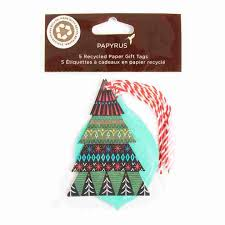 Eco Friendly Festive Holiday Gift Tags Set Of 5
