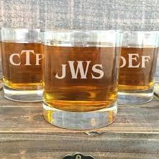 custom engraved whiskey glasses personalized glass whisky monogrammed monogram