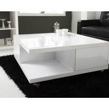 tiffany white high gloss square storage