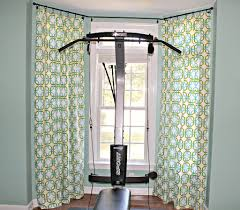 image of perfect bay window curtain rods