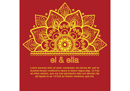 indian wedding card template free vector art stock graphics images