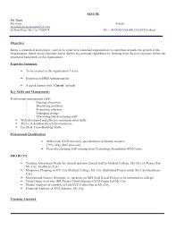 Resume Summary Samples For Freshers Sample Resume For It Freshers