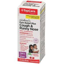Topcare Childrens Pain Relief Plus Cough Runny Nose