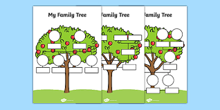 Family Tree Picture Template Free My Family Tree Worksheets Family Tree Template