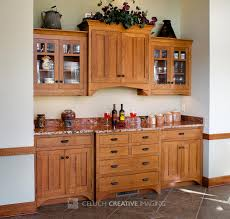 cool wooden dining room hutch with marble countertops and white wall for contemporary kitchen design a built