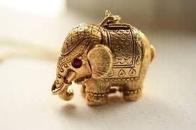 1960s vintage elephant necklace large