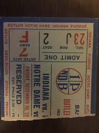 1949 Hoosier Classic Ticket Stub Indiana Butler Purdue Notre