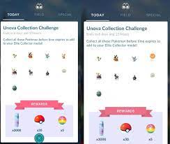 Pokemon Go Unova Collection Challenge and Elite Collector Medal