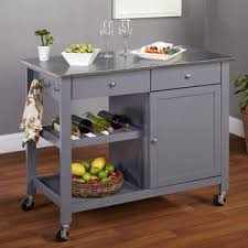 Kitchen Island Cart Columbus With Stainless Steel Top Inside Design