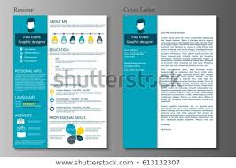 Modern Resume Cover Letters Resume Cover Letter Collection Modern Cv Stock Vector Royalty Free