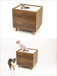 this modern cabinet hides a litter box inside and is made from a high quality